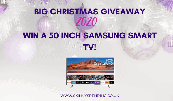 Christmas Giveaway 2020: Win a 50 inch Samsung Smart TV!